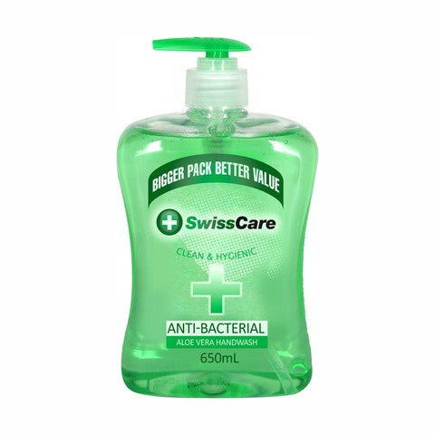 SwissCare Hand Soap Anti-Bacterial Aloe Vera 650ml
