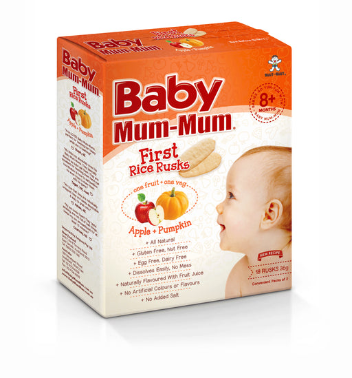 Baby Mum-Mum Rusk Apple & Pumpkin 36G