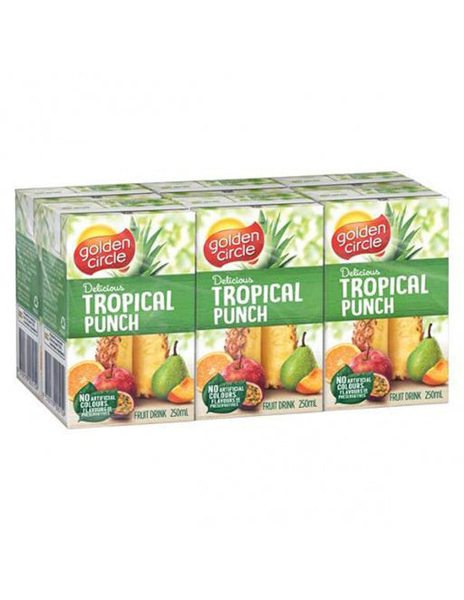 GOLDEN CIRCLE JUICE BOX TROPICAL PUNCH 6PK 250ML
