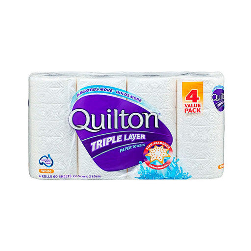Quilton Triple Layer Paper Towel 4 Rolls