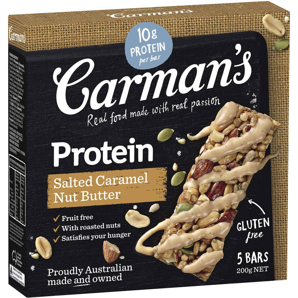 CARMANS SALTED CARAMEL NUT BUTTER PROTEIN BARS 5 PACK