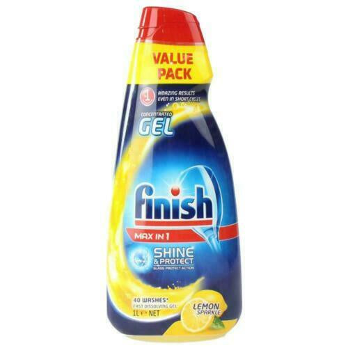 Finish Dishwashing Concentrated Gel Max In 1 Shine And Protect Lemon Sparkle 1L