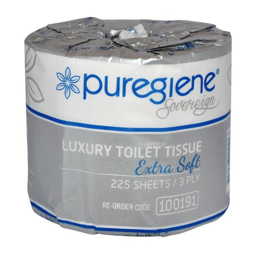 Puregiene Sovereign 3Ply Toilet Roll 225 Sheet 48Pk