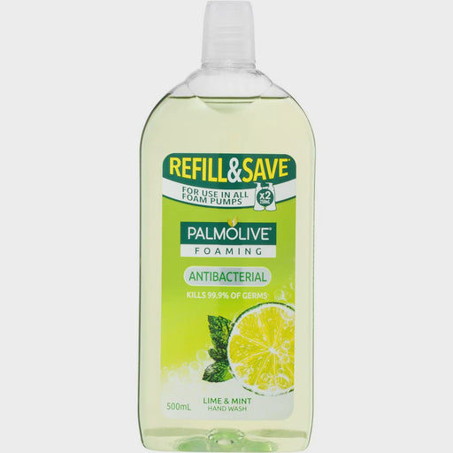 Palmolive Foaming Antibacterial Lime And Mint Hand Wash Refill 500Ml
