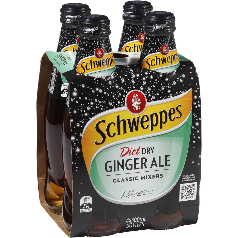 Schweppes Diet Dry Ginger Ale 4Pk 300Ml