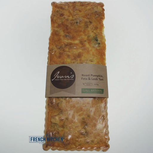 IVANS TART RECTANGLE PUMPKIN FETA AND LEEK 800G