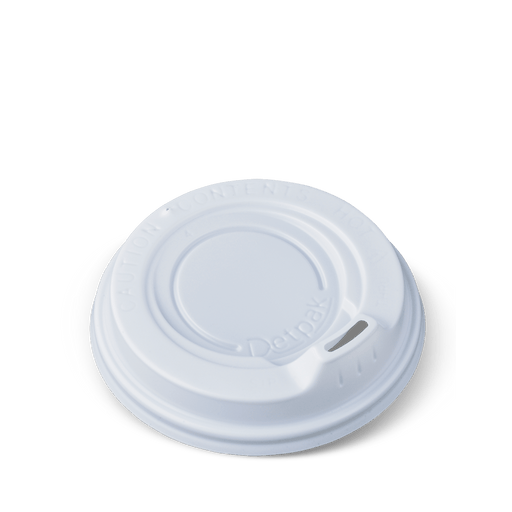 WHITE LIDS FOR 80Z HOT DRINK CUPS 50 PACK