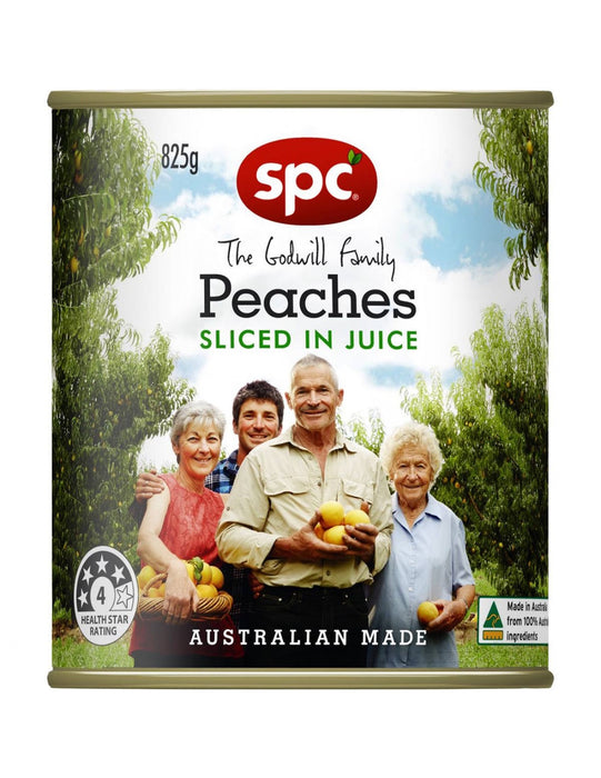 SPC SLICED PEACHES IN JUICE 825G