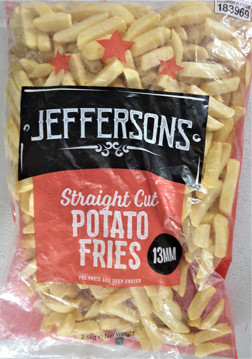 Jeffersons Straight Cut Potato Fries 2.5Kg