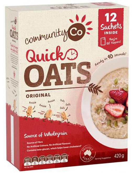 COMMUNITY CO QUICK OATS SACHETS 420G