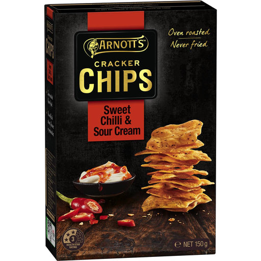 Arnotts Cracker Chips Sweet Chilli And Sour Cream 150G