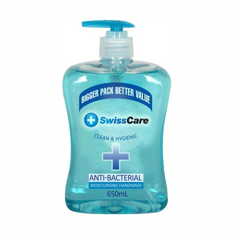 SwissCare Hand Soap Anti-Bacterial Moisturising 650ml