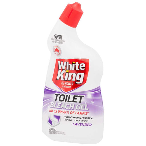 WHITE KING POWER CLEAN TOILET GEL LAVENDER 700ML