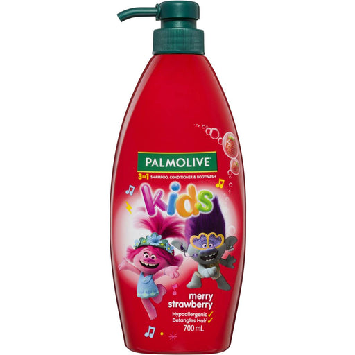 Palmolive Kids 3 In 1 Shampoo Conditioner & Bodywash Merry Strawberry