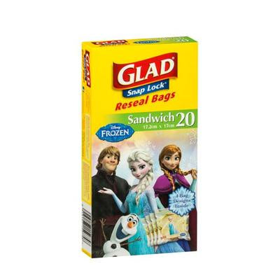 Glad Snaplock Sandwich Bags Girls 20Pk
