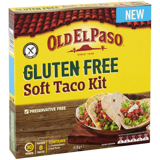 Old El Paso Soft Taco Kit Gluten Free 418G