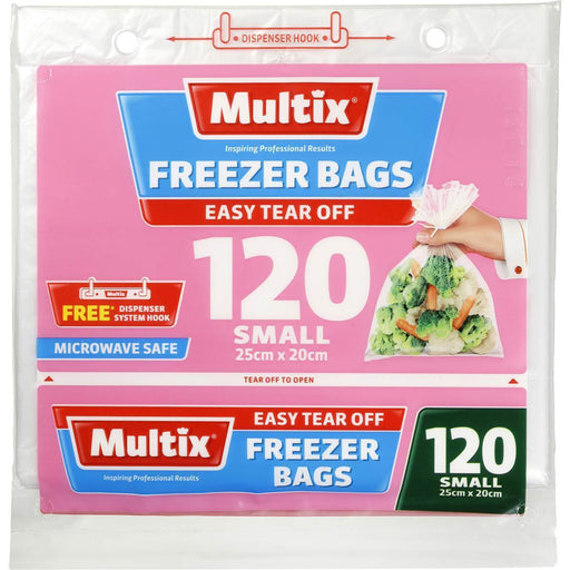 Multix Freezer Bags Tear Off Small 120 Pack