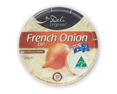 DELI ORIGINALS FRENCH ONION CREAMY DIP 250G