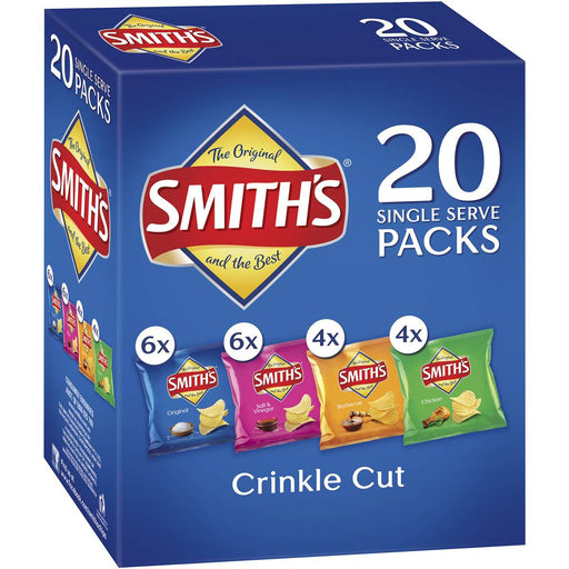 SMITHS CHIPS CRINKLE CUT VARIETY 20 PACK