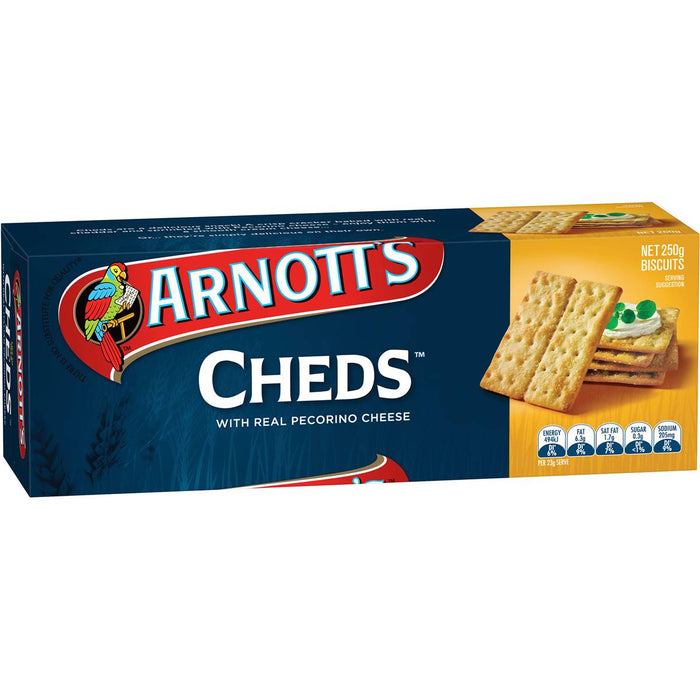 ARNOTTS CHEDS CRACKERS 250G