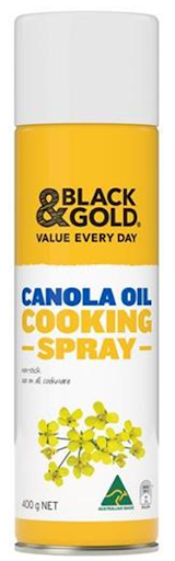 BLACK AND GOLD CANOLA OIL COOKING SPRAY 400GM