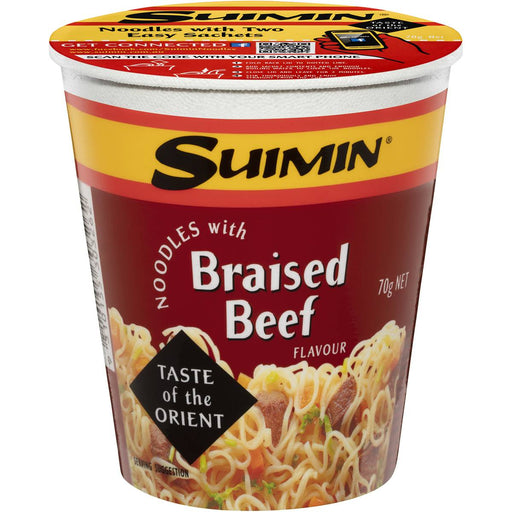 SUIMIN BRAISED BEEF NOODLE CUP 70G