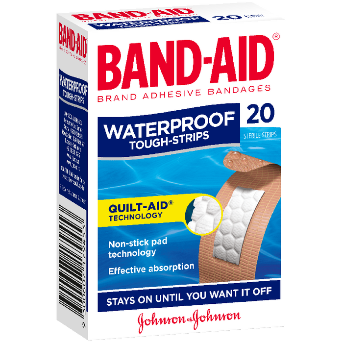 Band-Aid Brand Tough Strips Waterproof Regular 20Pk