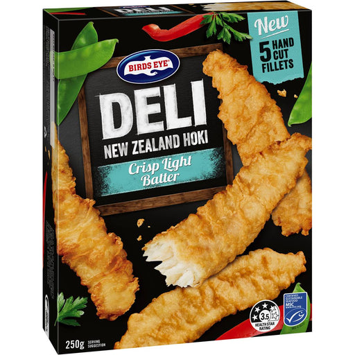 Birds Eye Deli Hoki Fillets Crisp Light Batter 250G