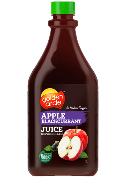 GOLDEN CIRCLE JUICE APPLE BLACKCURRANT 2L