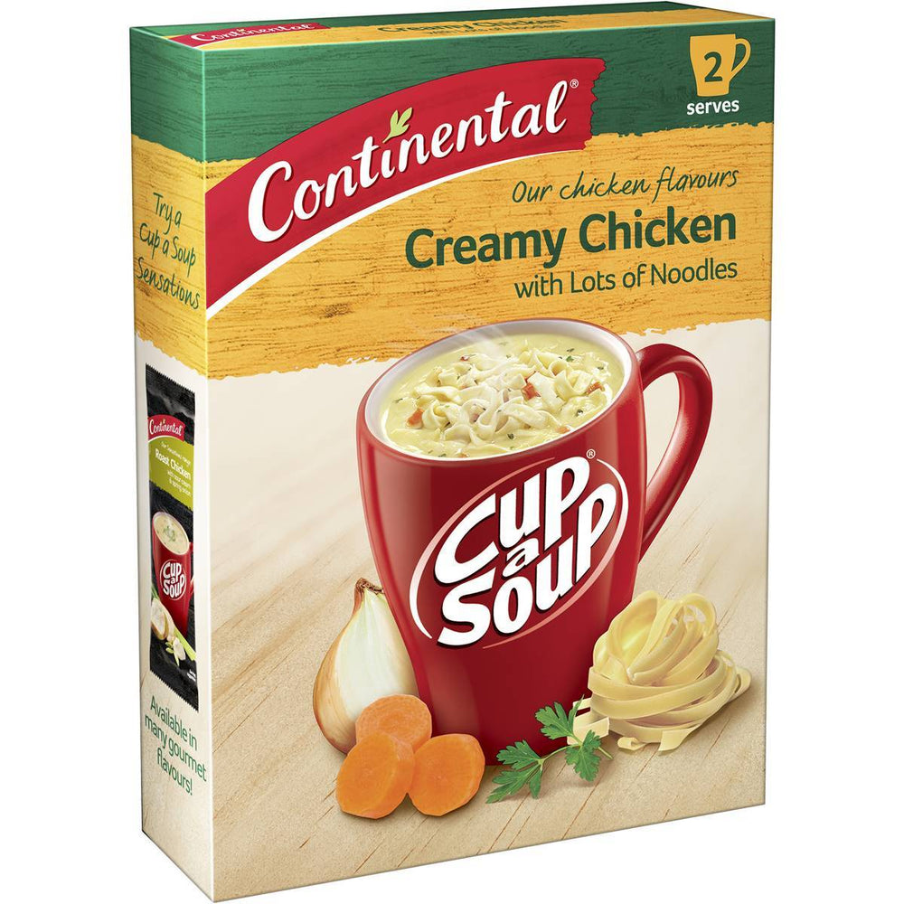 Continental Cup A Soup Creamy Chicken Lots A Noodles 2Pk