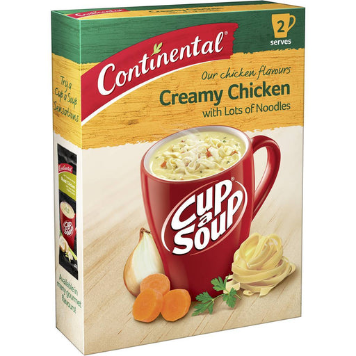 CONTINENTAL CUP A SOUP 2PK CREAMY CHICKEN LOTS A NOODLES