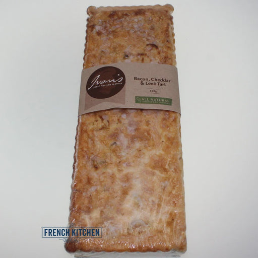 IVANS TART RECTANGLE BACON CHEDDAR AND LEEK 800G