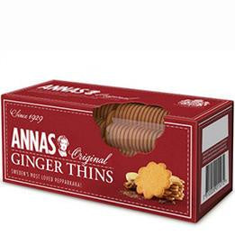 Annas Thins Biscuits Ginger 150 G