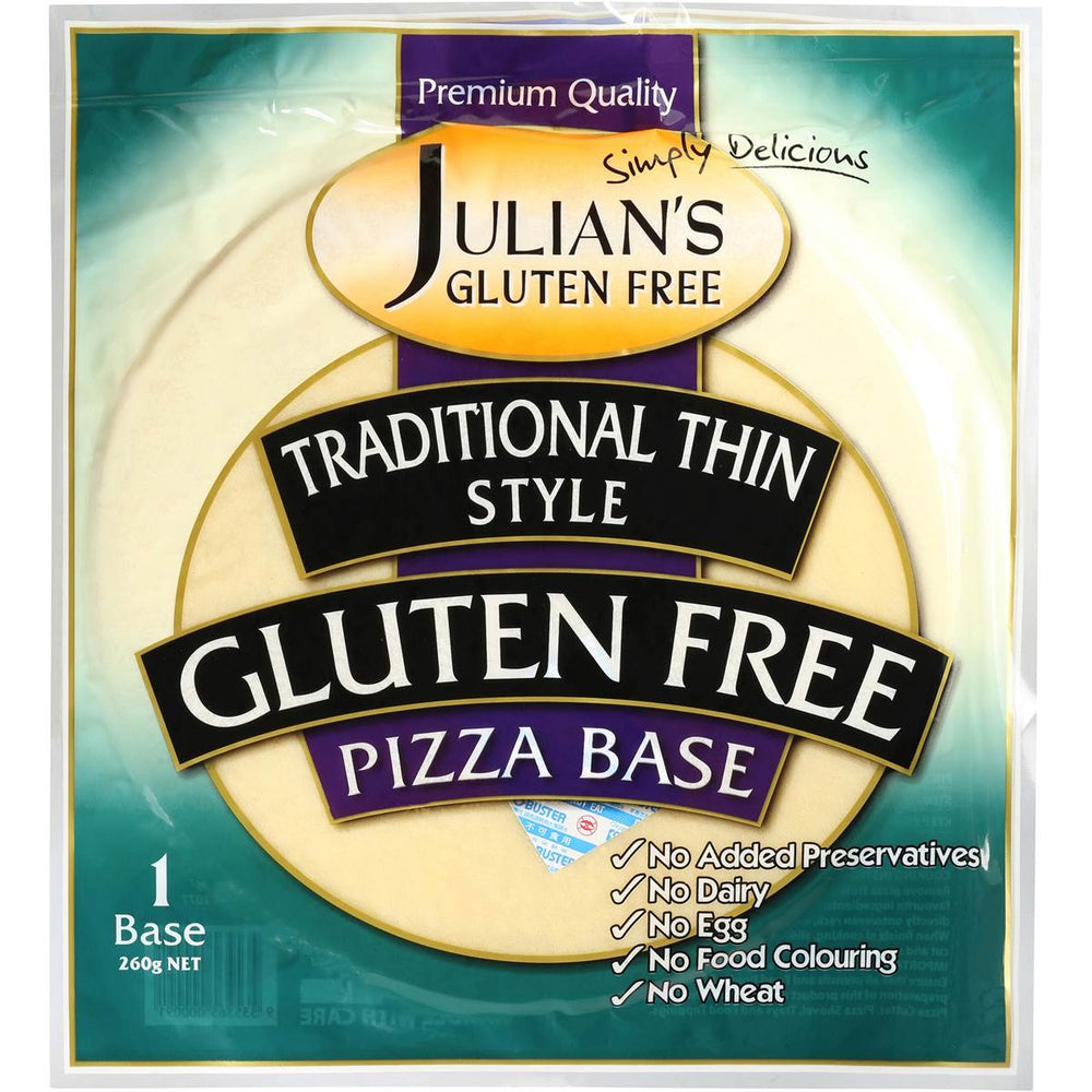 JULIANS GLUTEN FREE PIZZA BASE 4 PACK