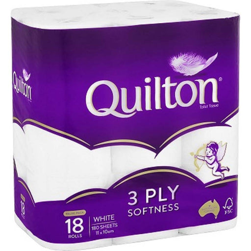 Quilton Toilet Tissue 3Ply 18 Pack