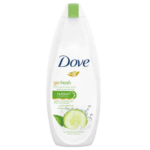 Dove Shower Gel Fresh Touch Cucumber & Green Tea 500Ml