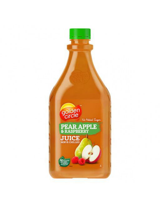GOLDEN CIRCLE JUICE PEAR APPLE RASPBERRY 2L