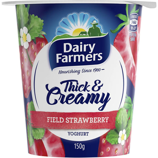 Dairy Farmers Field Strawberry Yoghurt 150G