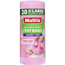 Multix Tidy Bag Colour Floral Scent X-Large 50L 20Pk