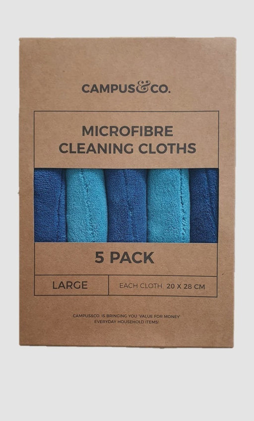 Campus&Co. Microfibre Cleaning Cloth Aqua Pack Of 5