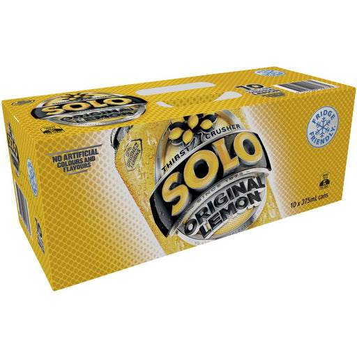 SCHWEPPES SOLO LEMON CANS 10X375ML PACK