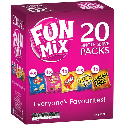 SMITHS CHIPS FUN MIX 20 SINGLE SERVE PACKS