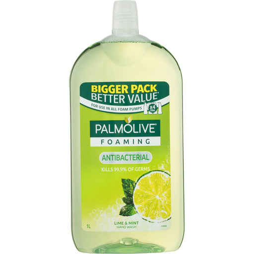Palmolive Hand Wash Foaming Antibac Lime & Mint Refill 1L