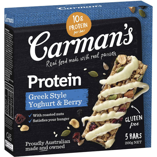 Carmans Greek Yoghurt And Berry Protein Bars 5 Pack