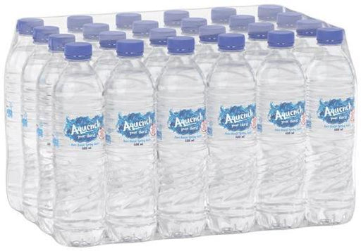 AQUENCH NATURAL SPRING WATER 24 X 600ML