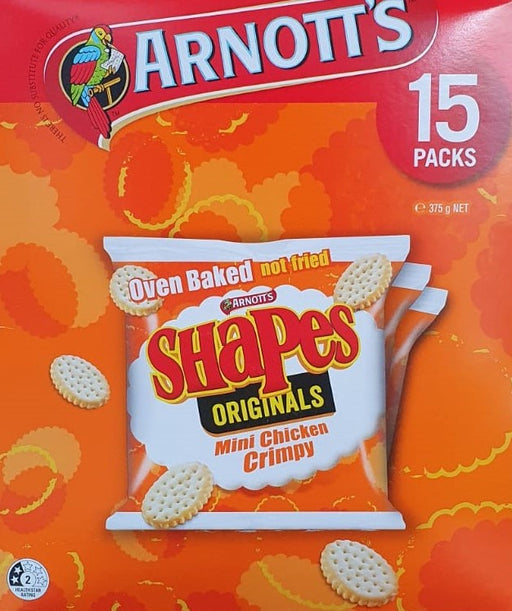 Arnotts Shapes Mini Chicken Crimpy 15Pk