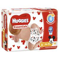 Huggies Essential Nappy 3 Crawler 6-11Kg 52Pk