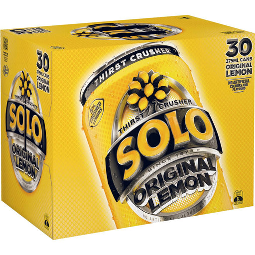 SCHWEPPES SOLO LEMON CANS 30X375ML PACK