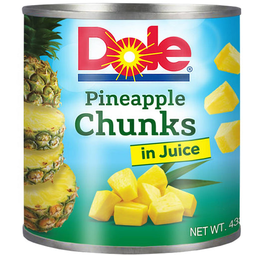 Dole Pineapple Chunks In Juice 432G