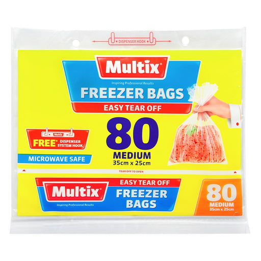 Multix Freezer Bags Tearoff Medium 80 Pack